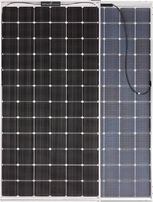 Panel solar bifacial